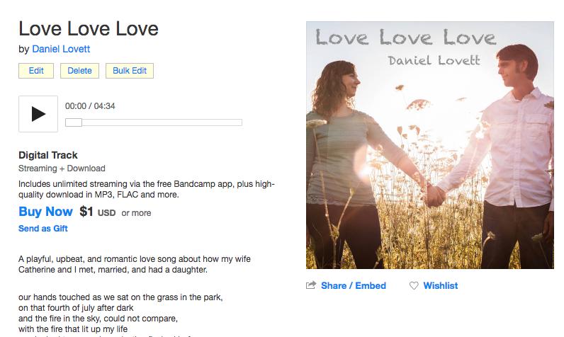 love love love at bandcamp